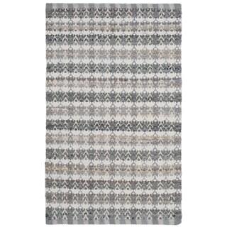 Safavieh Montauk Hand-Woven Grey/ Multi Cotton Accent Area Rug (2' 6 x 4')