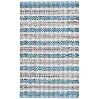 Safavieh Montauk Hand-Woven Blue/ Multi Cotton Accent Area Rug - 2'6 x 4'