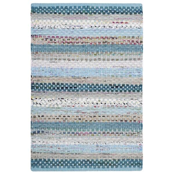 Safavieh Montauk Hand-Woven Blue/ Multi Cotton Accent Area Rug (2' 6 x 4')