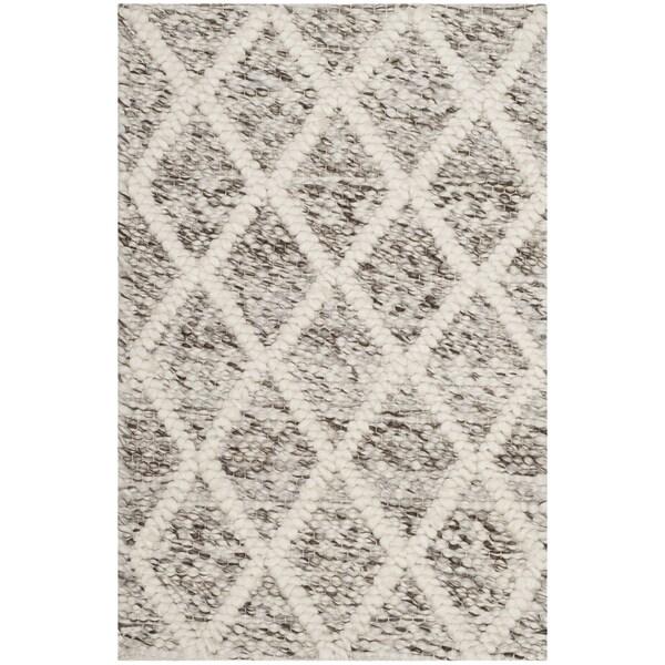 Safavieh Natura Handmade Contemporary Ivory / Stone Wool Rug (2' x 3')