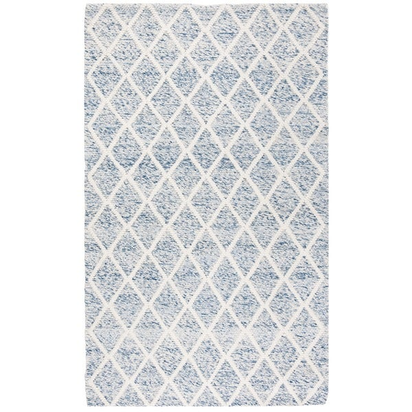 Safavieh Natura Hand-Tufted Ivory/ Blue Wool Accent Area Rug (2' x 3')