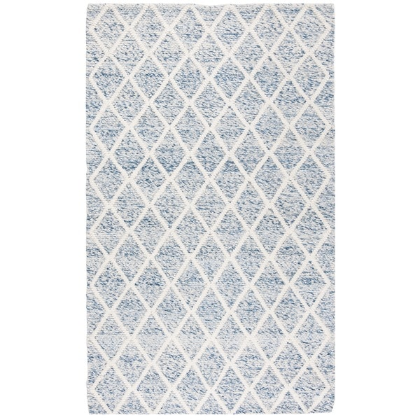 Safavieh Natura Hand-Tufted Ivory/ Blue Wool Accent Area Rug - 2' x 3'