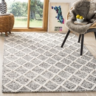 Safavieh Natura Hand-Tufted Ivory/ Black Wool Accent Area Rug (2' x 3')