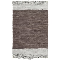 Safavieh Vintage Leather Hand-Woven Grey/ Brown Accent Area Rug - 2' X 3'