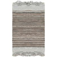 Safavieh Vintage Leather Hand-Woven Grey Accent Area Rug - 2' x 3'
