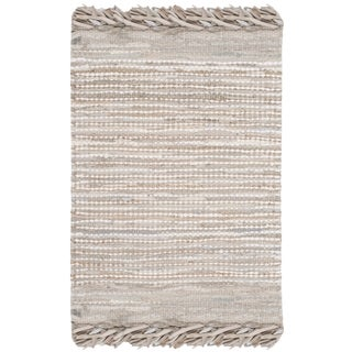 Safavieh Vintage Leather Hand-Woven Beige/ Multi Accent Area Rug (2' x 3')