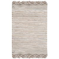 Safavieh Vintage Leather Hand-Woven Beige/ Multi Accent Area Rug - 2' X 3'