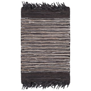 Safavieh Vintage Leather Hand-Woven Brown/ Multi Accent Area Rug (2' x 3')