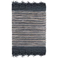 Safavieh Vintage Leather Hand-Woven Grey/ Multi Accent Area Rug (2' x 3')