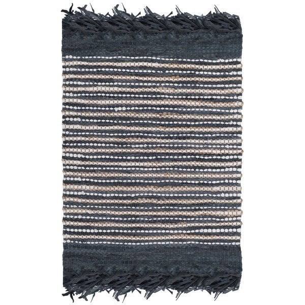 Safavieh Vintage Leather Hand-Woven Grey/ Multi Accent Area Rug - 2' x 3'