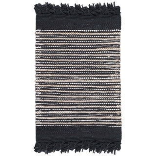 Safavieh Vintage Leather Hand-Woven Black/ Multi Accent Area Rug (2' x 3')