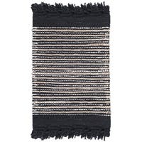 Safavieh Vintage Leather Hand-Woven Black/ Multi Accent Area Rug - 2' X 3'