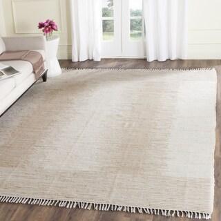 Safavieh Montauk Hand-Woven Beige Cotton Area Rug - 11' x 15'