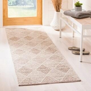 Safavieh Montauk Hand-Woven Beige Cotton Area Rug (11' x 15')
