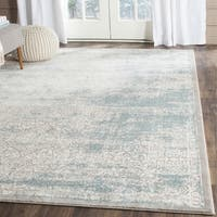 Safavieh Passion Watercolor Turquoise/ Ivory Distressed Area Rug - 12' x 18'