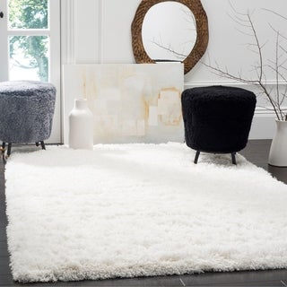 Safavieh Polar Shag White Polyester Area Rug (11' x 15')