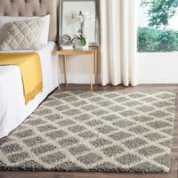 Safavieh Dallas Shag Grey/ Ivory Area Rug - 11' x 15'