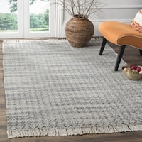 Safavieh Boston Coastal Grey/ Ivory Cotton Area Rug - 6' x 6' Square