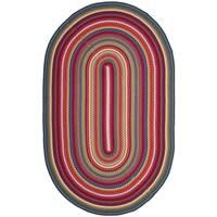 Safavieh Braided Contemporary Hand-Woven Multi Area Rug - 5' x 8' Oval