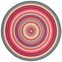 Safavieh Braided Contemporary Hand-Woven Multi Area Rug - 3' Round