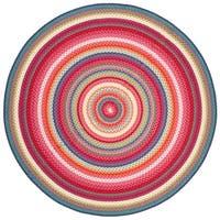 Safavieh Braided Contemporary Hand-Woven Multi Area Rug - 5' Round