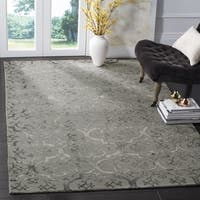 Safavieh Dip Dye Hand-Tufted Grey Wool Area Rug (7' Square)