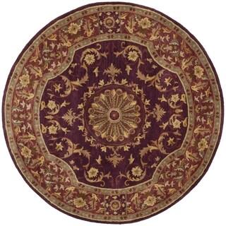 Safavieh Handmade Empire Dani Traditional Oriental Wool Rug (6 x 6 Round - Burgundy)