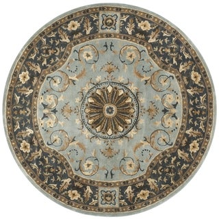 Safavieh Handmade Empire Dani Traditional Oriental Wool Rug (6 x 6 Round - Blue)