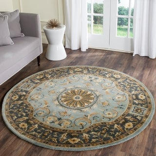 Safavieh Empire Hand-Tufted Blue Wool Area Rug (8' Round)