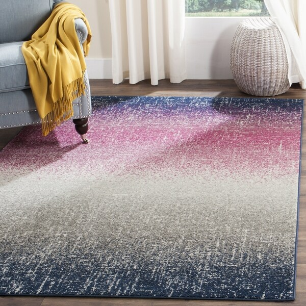 Safavieh Madison Bohemian Fuchsia/ Navy Area Rug (6'7 Square)