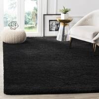 Safavieh Milan Shag Black Rug - 7' x 7' Square