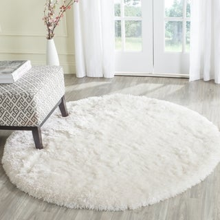 Safavieh Arctic Shag Hand-Tufted Ivory Polyester Area Rug (8' Round)