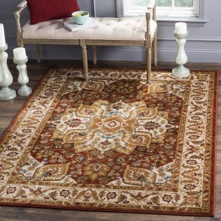 Safavieh Summit Red/ Ivory Area Rug (4' Square)