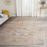 Safavieh Vintage Persian Grey/ Multi Distressed Silky Area Rug - 5' Square