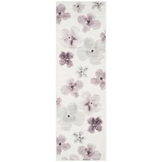 Safavieh Adirondack Floral Watercolor Ivory / Purple Runner Rug (2'6 x 6')