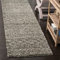 Safavieh Arizona Shag Brown/ Ivory Runner Rug (2' 3 x 6')