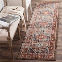 Safavieh Bijar Traditional Oriental Brown/ Blue Distressed Runner Rug - 2' 3 x 10'