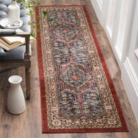 "Safavieh Bijar Traditional Oriental Royal Blue/ Brown Distressed Runner Rug - 2'3"" x 10'"