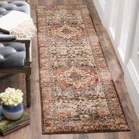Safavieh Bijar Traditional Oriental Brown/ Red Distressed Runner Rug - 2' 3 x 6'