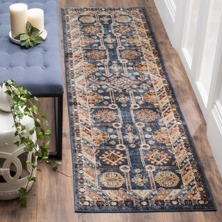 Safavieh Bijar Traditional Oriental Blue/ Ivory Distressed Runner Rug (2' 3 x 12')