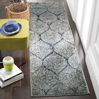 Safavieh Madison Vintage Navy/ Silver Distressed Runner Rug (2' 3 x 12')