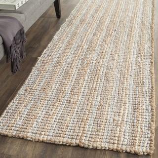 Safavieh Natural Fiber Coastal Hand-Woven Grey/ Natural Jute Runner Rug (2' 6 x 6')
