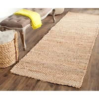 Safavieh Natural Fiber Coastal Hand-Woven Natural Jute Runner Rug - 2' 6 x 14'