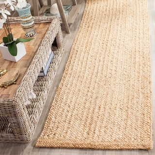 Safavieh Natural Fiber Coastal Hand-Woven Natural Jute Runner Rug (2' 6 x 12')