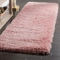 "Safavieh Polar Shag Pink Polyester Runner Rug - 2'3"" x 6'"