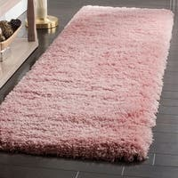 Safavieh Polar Shag Pink Polyester Runner Rug - 2'3 x 10'