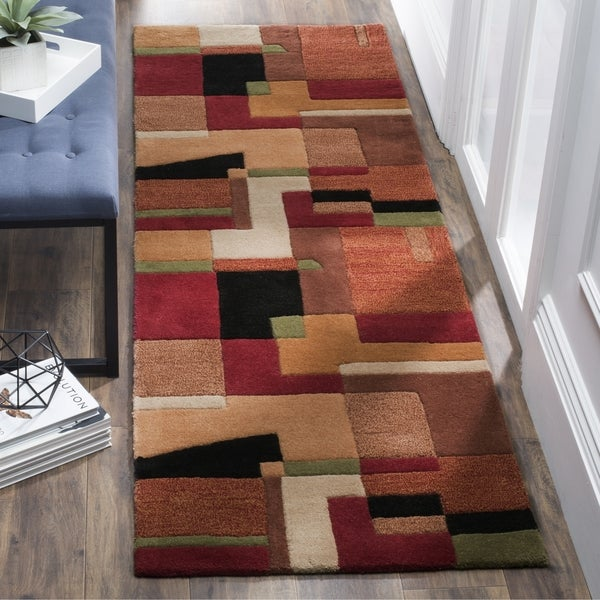 Safavieh Hand-Woven Rodeo Drive Modern Multicolored Wool Runner (2'6 x 22')