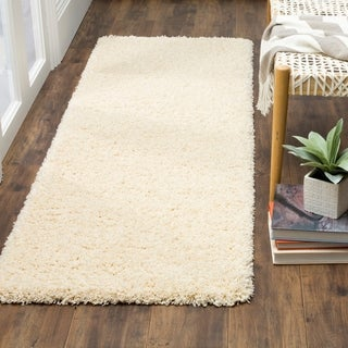 Safavieh California Cozy Plush Ivory Shag Runner Rug (2' 3 x 17')
