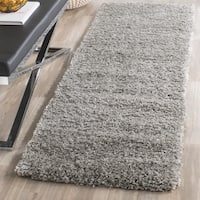 Safavieh California Cozy Plush Silver Shag Runner Rug - 2' 3 x 17'