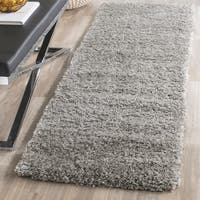 Safavieh California Cozy Plush Silver Shag Runner Rug (2' 3 x 17')